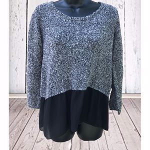 Charming Charlie | Black Layered Sweater | Small